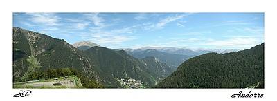 Les hauteurs d'Andorre (juin 2007).