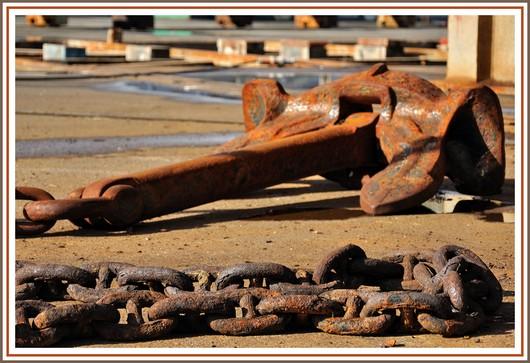 Couleur rouille au coeur du port de Concarneau. Photo prise le dimanche 5 août 2012.