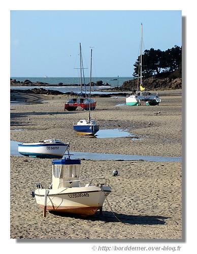 Le Minaouët (Trégunc) à marée basse. Le lundi 9 mars 2009. - © http://borddemer.over-blog.fr