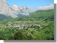 Le village de Lescun (Vallée d'Aspe)