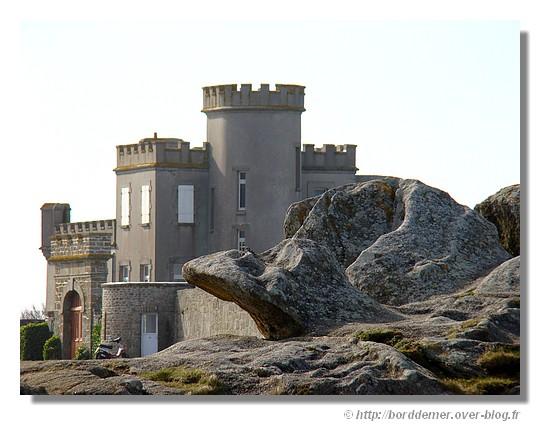 La villa château de Trévignon à Trégunc, le dimanche 15 mars 2009. - © http://borddemer.over-blog.fr