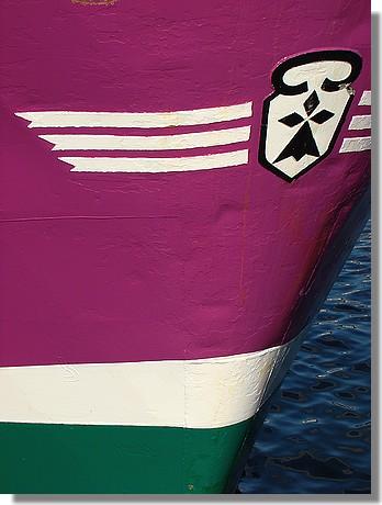 La coque du chalutier bigouden Coppelia (GV 730703). Il s'agit d'un chalutier construit en 1988. Photo prise le 4 septembre 2009. - © http://borddemer.over-blog.fr
