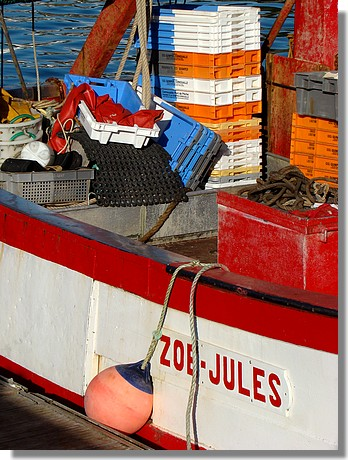 Le Zoé Jules à quai dans le port. Photo prise le 4 septembre 2009. - © http://borddemer.over-blog.fr