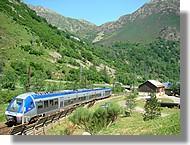 Passage d'un train à l'Hospitalet près l'Andorre