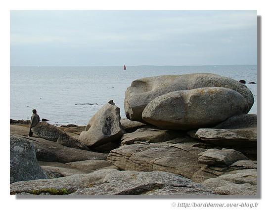 Force de l'océan sur les rochers. Pointe de la Jument à Trégunc le 31 août 2008 - © http://borddemer.over-blog.fr