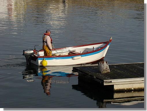 Un pêcheur dans le port de Concarneau. Photo prise le 20 septembre 2009. - © http://borddemer.over-blog.fr