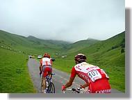 passage de la Route du Sud 2007 à la Hourquette d'Ancizan (65)