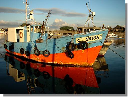 Le Men-Du à quai dans le port de Concarneau. Photo prise le dimanche 20 septembre 2009 en soirée. - © http://borddemer.over-blog.fr