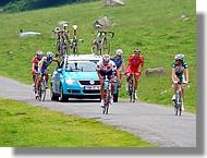 La Route du Sud 2007 à la Hourquette d'Ancizan.