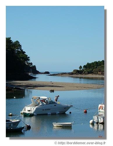 Le Belon à marée basse avec un beau ciel bleu (le dimanche 15 septembre 2008) - © http://borddemer.over-blog.fr