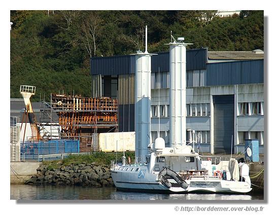 L'Alcyone et la Calypso dans le port de Concarneau (samedi 11 octobre 2008) - © http://borddemer.over-blog.fr