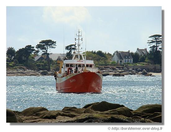 Arrivée de l'Iroise dans le port de Concarneau (le 23 avril 2008) - © http://borddemer.over-blog.fr