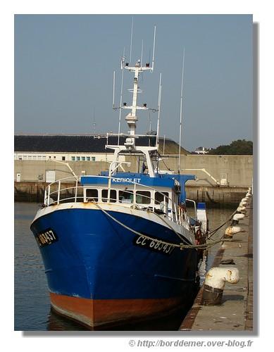 Le Kériolet à quai dans le port de Concarneau (le 12 octobre 2008) - © http://borddemer.over-blog.fr