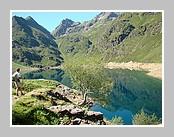 Le lac d'Izourt. Juin 2008 - Ariège.
