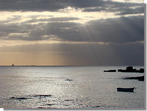 L'océan Atlantique en fin de journée. Pendruc, Trégunc le 17 octobre 2009. - © http://borddemer.over-blog.fr