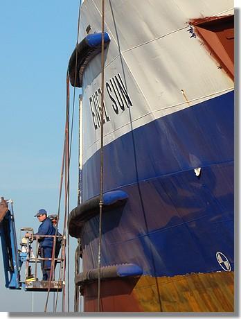 Carénage sur le Enez Sun. Photo prise le 29 octobre 2009. - © http://borddemer.over-blog.fr