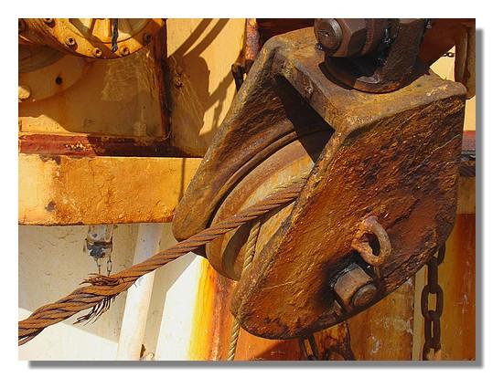 Rouille sur un chalutier. Photo prise le 14 juin 2009. - © http://borddemer.over-blog.fr