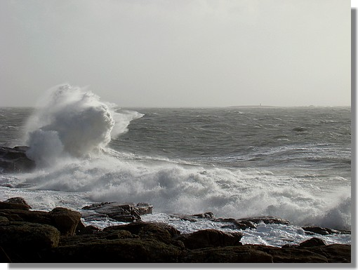 Trévignon, à Trégunc, un jour de fort vent (100 km/h). Photo prise le 14 novembre 2009. - © http://borddemer.over-blog.fr