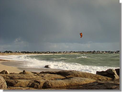 Une plage près de Trévignon, à Trégunc. Photo prise le 29 novembre 2009. - © http://borddemer.over-blog.fr