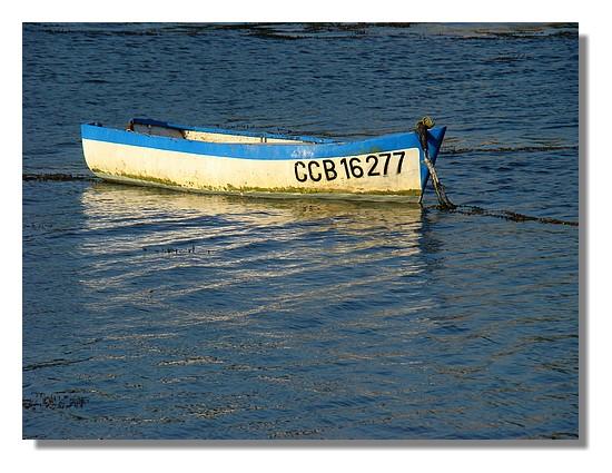 Une barque sur l'eau. Juillet 2009, le Porzou à Concarneau. - © http://borddemer.over-blog.fr