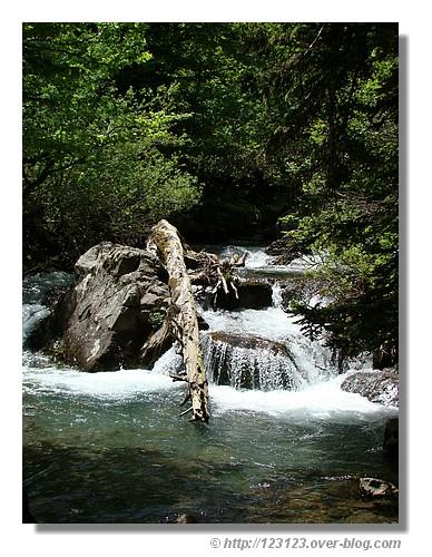 Petit torrent près des lacs d'Ayous - été 2008 dans les Pyrénées Atlantiques. © http://123123.over-blog.com