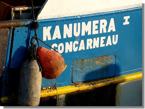 Le chalutier concarnois Kanumera I à quai. Photo prise le 8 août 2009. - © http://borddemer.over-blog.fr