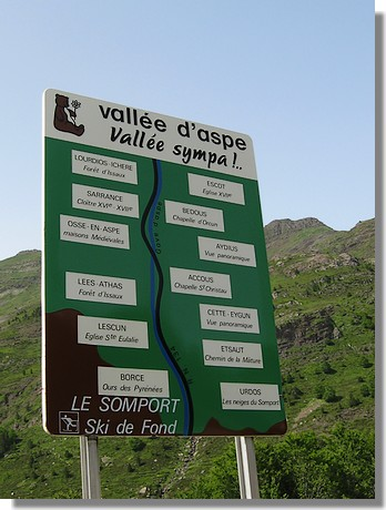 La vallée d'Aspe. Juin 2008. On y sera à nouveau dès la mi-juin.