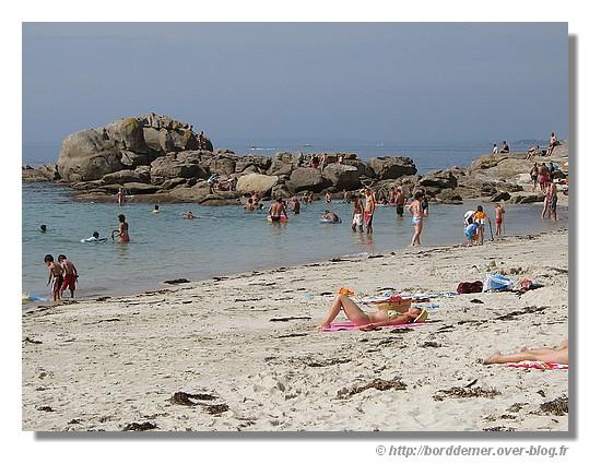 La plage de la Baleine à Trévignon (Trégunc - 30 août 2008) - © http://borddemer.over-blog.fr