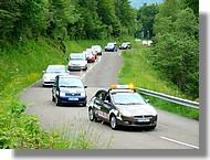 Passage de la caravane publicitaire de la route du Sud 2007.