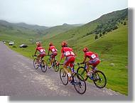 les coureurs de l'équipe espagnole Relax Gam.