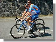 Dean Martin (Slipstream) à l'échauffement. Le future vainqueur de la Route du Sud 2008.