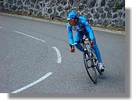 Un coureur de l'équipe Bouygues Telecom.
