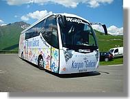 Le car de l'équipe espagnole Karpin Galicia.