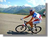 Christophe Moreau (Agritubel) avec son maillot de champion de France.