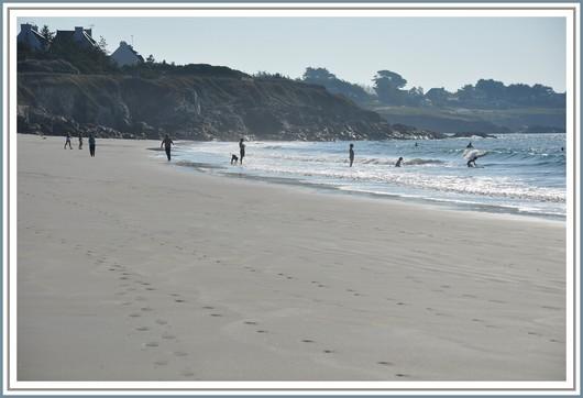 L'été indien en ce dimanche matin sur la plage de Kersidan (Trégunc). Photo prise le 02 octobre 2011.
