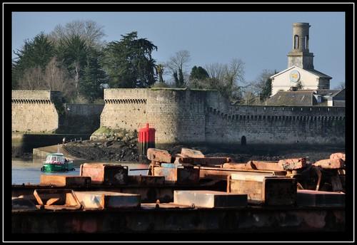 Zoom sur la ville close, janvier 2013.