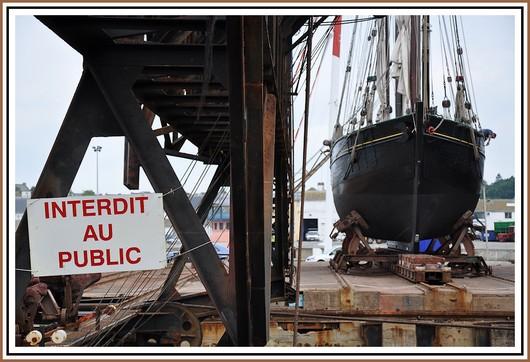 Le Slipway du port de Concarneau avec le Lougre Corentin (Quimper). Photo prise le 13 juin 2010.