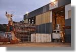 Le chantier de la Calypso en soirée. Photo prise le 8 novembre 2010.