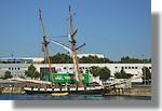 La Recouvrance à quai (Symbole de Brest, la Recouvrance est la réplique d'une goelette de 1817). Photo prise le 29 juillet 2010.