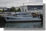 L'Altaïr (M771) à quai. Il s'agit d'un bâtiment remorqueur de sonar de la marine nationale. Piriou a en charge les travaux de maintien jusqu'en décembre. Photo prise le 5 novembre 2010.