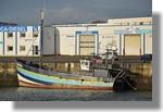 Le nouveau bateau pour Haïti, le Nymphéa de Morlaix. Il va être remis en état pas l'équipe de Solidarité Pêche de Concarneau. Photo prise le 8 janvier 2011.