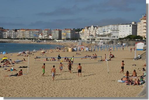La grande plage de Saint Jean de Luz. Photo prise le 25 juin 2012.