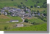 Zoom sur le village de Lescun. Le 23 juin 2010.