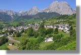 La photo classique du village de Lescun depuis le kiosque. Le 1er juillet 2010.