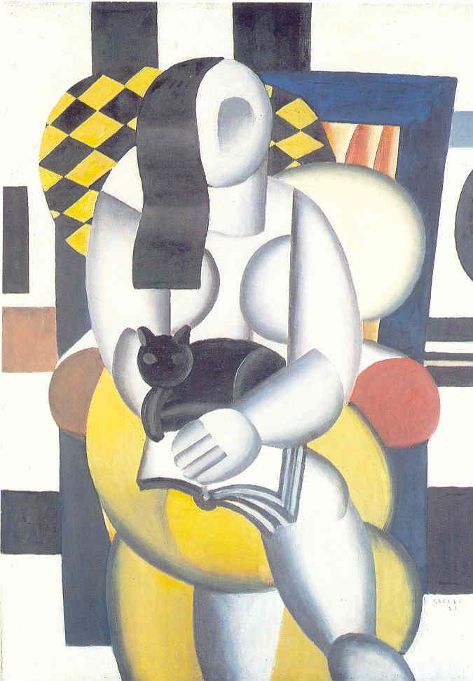 Fernand Léger - La femme au chat noir 1921