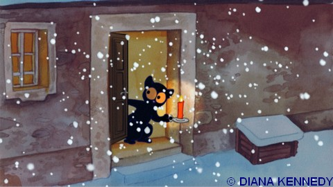 Georgie chaton noir - dessin de Diana Kennedy