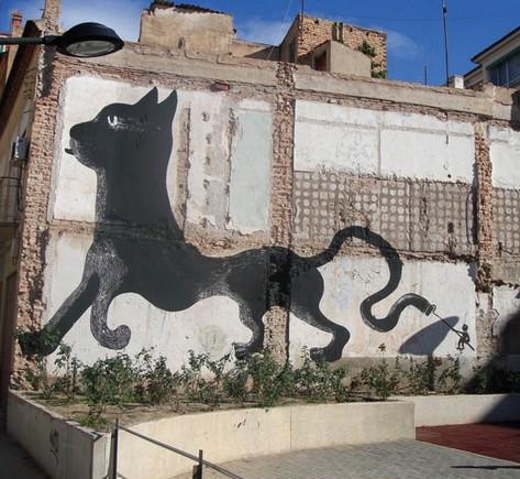 graff chat noir_MADRID