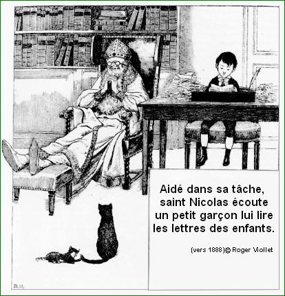 Saint Nicolas et chat noir