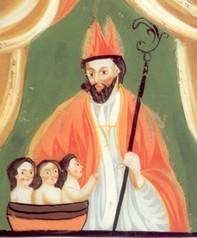 St Nicolas sauvant les 3 enfants
