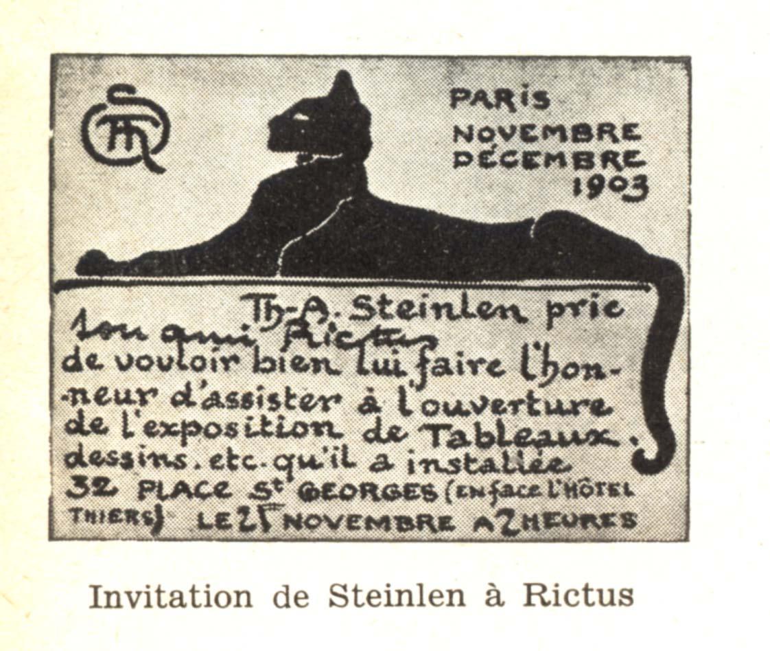 Chat noir Steinlen